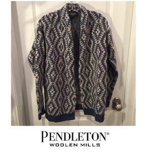 Pendleton Lambs Wool Blend Open Cardigan